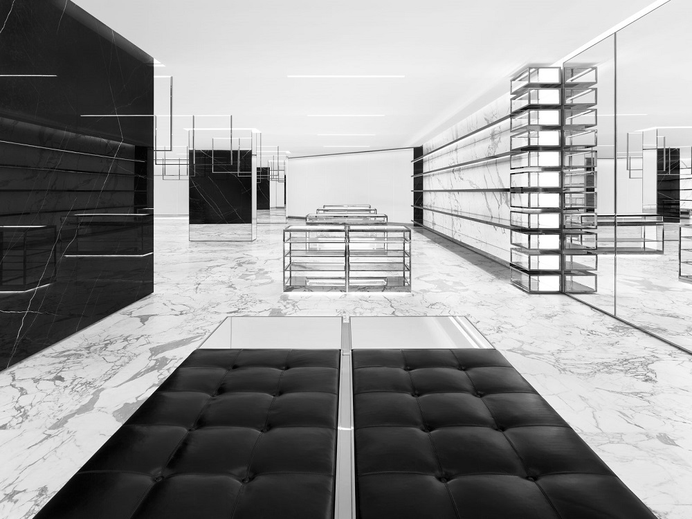 kenneth park architects saint laurent opens in south coast plaza. Black Bedroom Furniture Sets. Home Design Ideas